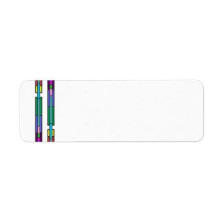 Etiqueta Design colorido do vitral
