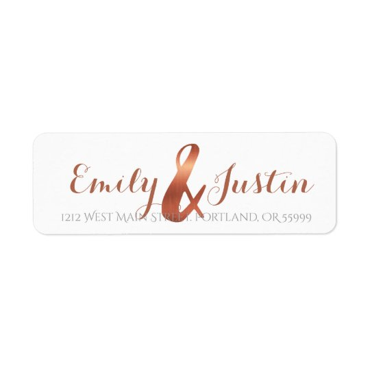 Etiqueta Design de cobre do ampersand
