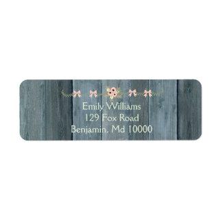 Etiqueta Design de madeira rústico azul de Lovel