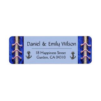 Etiqueta Design industrial do abstrato dos azuis marinhos