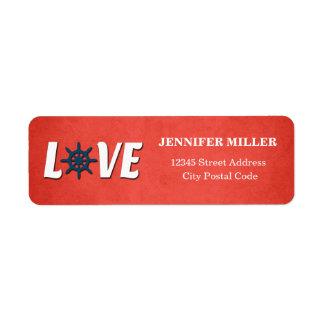 Etiqueta Design náutico do amor