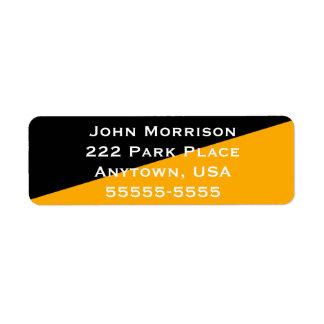 Etiqueta Diagonal simples lisa do preto e do ouro