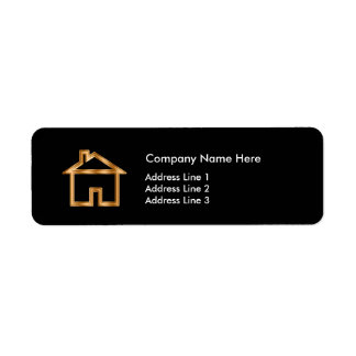 Etiqueta Disposição simples do mediador imobiliário