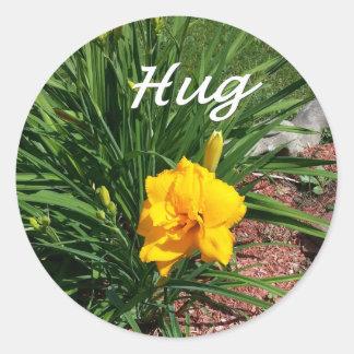 Etiqueta do abraço
