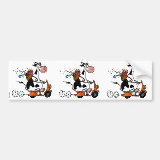 etiqueta do álbum de recortes da vaca do partido adesivo para carro