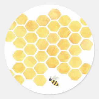 Etiqueta do amarelo do favo de mel da abelha