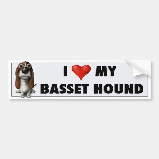 Etiqueta do amor de Basset Hound Adesivos