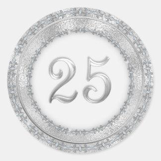 Etiqueta do aniversário de casamento de prata