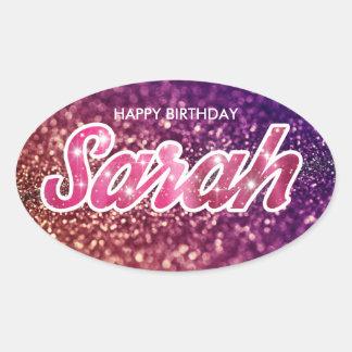 Etiqueta do aniversário de Sarah