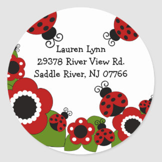 Etiqueta do aniversário do endereço do remetente adesivo redondo