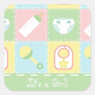 Etiqueta do anúncio da edredão do bebê
