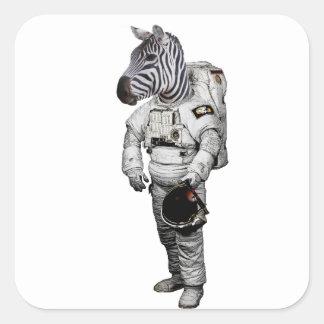 Etiqueta do astronauta da zebra