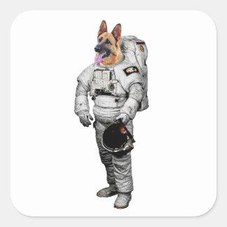 Etiqueta do astronauta de Schäferhund