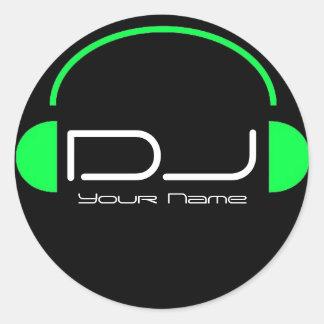 Etiqueta do auscultadores do DJ