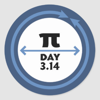 Etiqueta do azul do dia do Pi