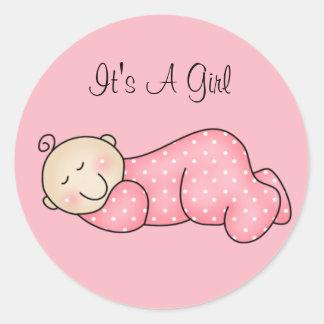 Etiqueta do bebê do sono adesivo