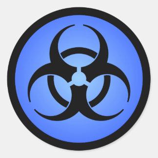 Etiqueta do Biohazard Adesivo Em Formato Redondo