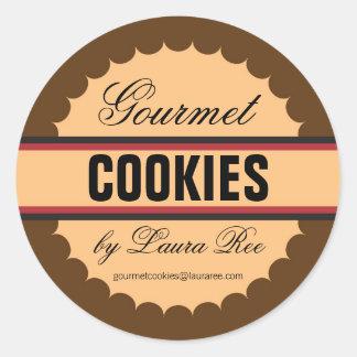 Etiqueta do biscoito do gourmet adesivo