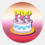 Etiqueta do bolo de aniversário adesivos redondos