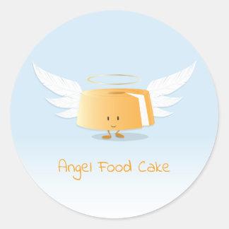 Etiqueta do bolo de anjo  