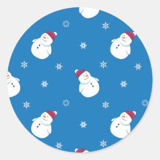 Etiqueta do boneco de neve