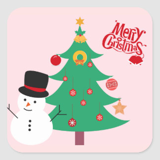 Etiqueta do boneco de neve do Feliz Natal
