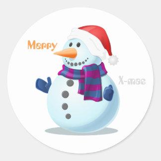 etiqueta do boneco de neve do Natal