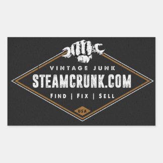 Etiqueta do brilho do retângulo de Steamcrunk (4,5