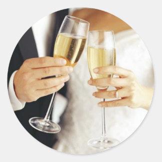 Etiqueta do brinde do casamento adesivo