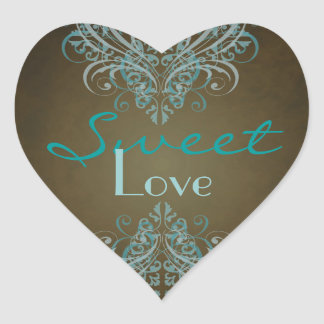 Etiqueta do bufete dos doces de Brown do rolo da Adesivos De Corações