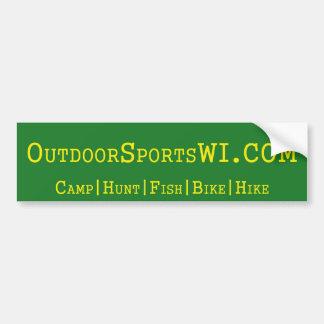 Etiqueta do bumber de Wisconsin dos esportes exter Adesivo Para Carro