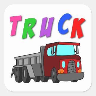 Etiqueta do caminhão adesivo quadrado