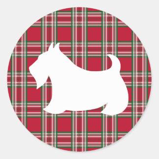 Etiqueta do cão de Terrier do Scottish da xadrez