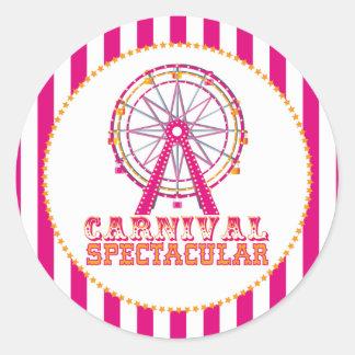 Etiqueta do carnaval adesivos redondos