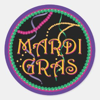 Etiqueta do carnaval adesivo em formato redondo