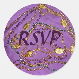 Etiqueta do carnaval RSVP Adesivo Redondo