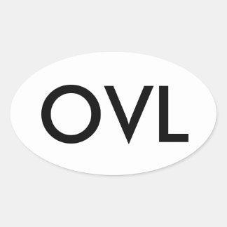 Etiqueta do carro de OVL Adesivo Oval