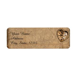 Etiqueta do casamento da noiva de Steampunk do