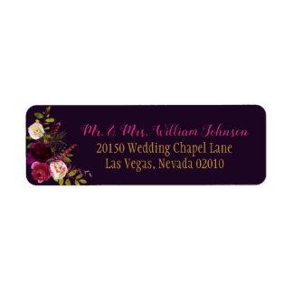 Etiqueta do casamento do buquê floral da queda da