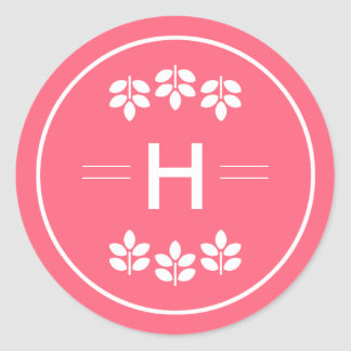Etiqueta do casamento do monograma dos ramos do