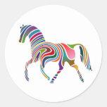 Etiqueta do cavalo da fantasia adesivos em formato redondos