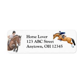 Etiqueta do cavalo da mostra da ligação em ponte