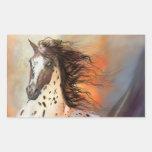 Etiqueta do cavalo selvagem 2 adesivo retangular