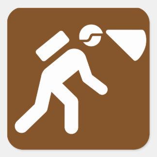 Etiqueta do cavamento - Brown Adesivo Quadrado