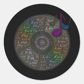 Etiqueta do CD do arco-íris