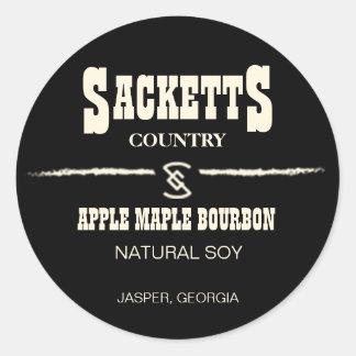 Etiqueta do círculo da vela de Sacketts