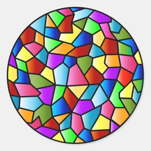 Etiqueta do círculo do vitral adesivo