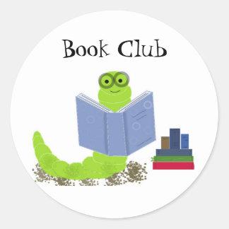 Etiqueta do clube de leitura do leitor ávido