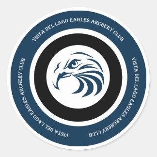 Etiqueta do clube do tiro ao arco de Eagles