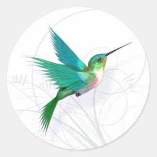 Etiqueta do colibri
